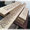 Carved stair risers