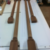 Custom carved columns. Full size shop/customer printout. All parts over-sized for onsite trimming.